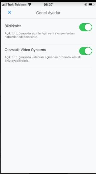 YAAY videolar otomatik açılmasın