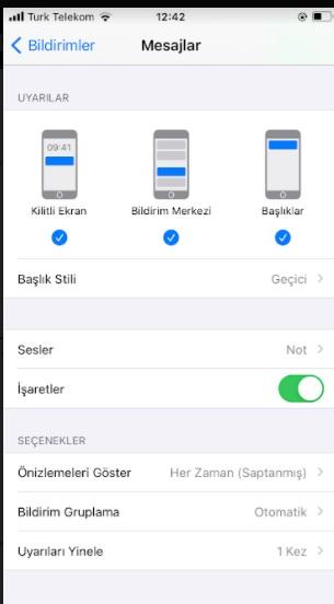 iPhone mesaj ön izlemelerini kapatma ve gizleme