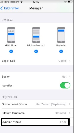 iPhone mesaj sesi iki kez geliyor ve gelmesin